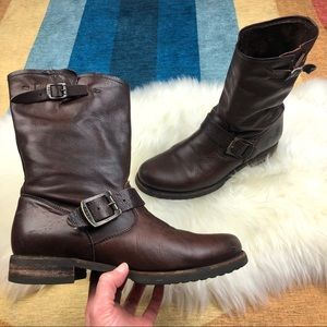 Frye | Veronica Short Boot Dark Brown 8.5